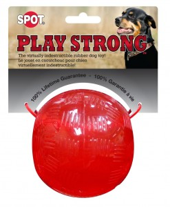 "PLAY STRONG Rubber Ball 3,75"" - Piłka gumowa"